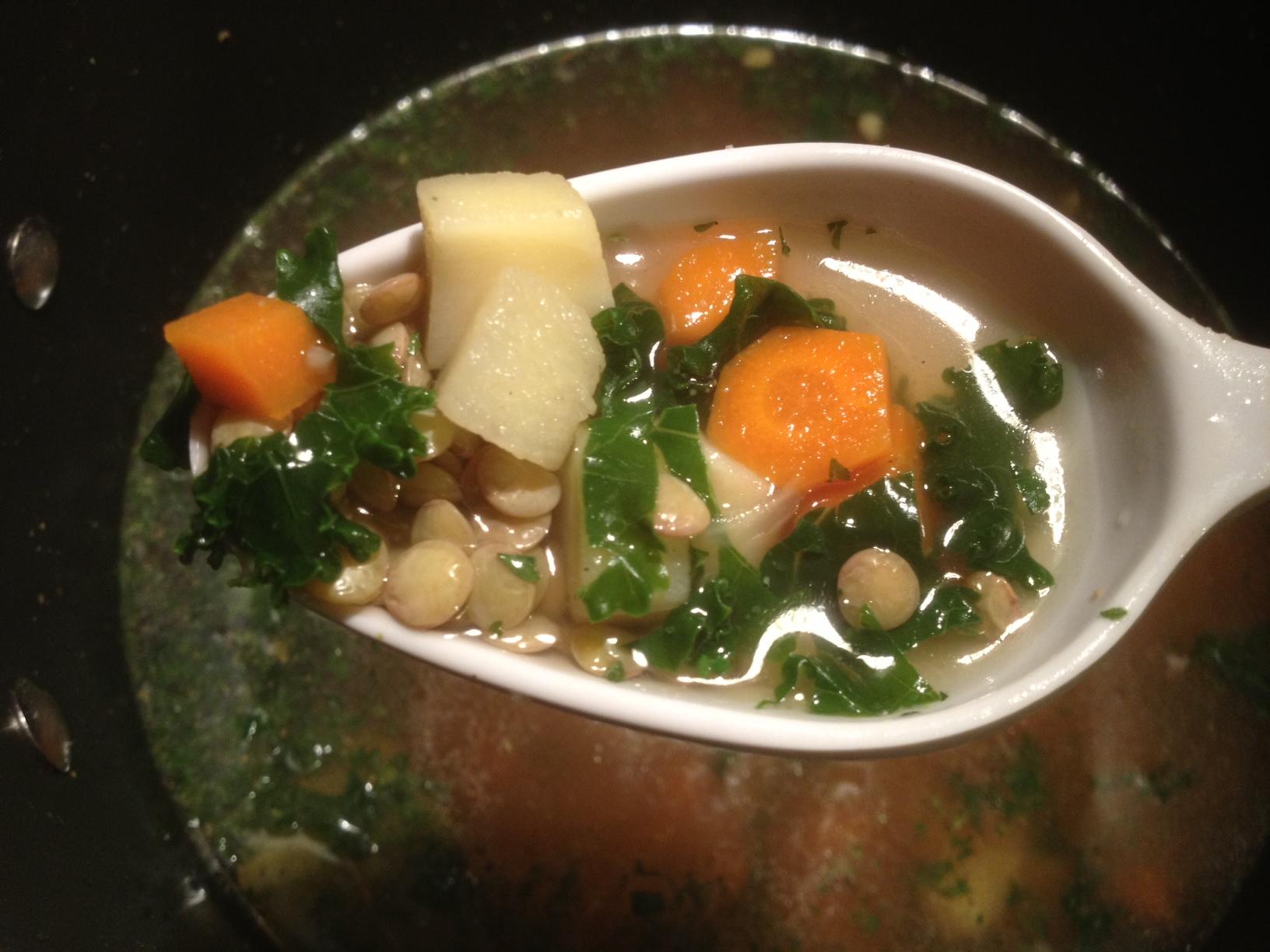 Vegan Lentil & Vegetable Soup