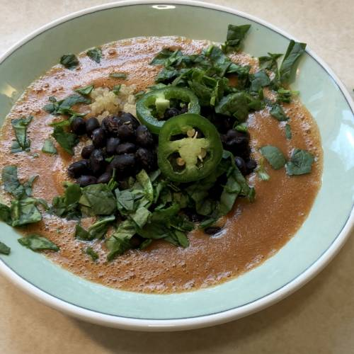 easy vegan tortilla soup recipe