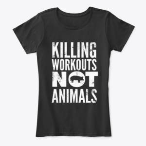 women's exercise vegan shirt